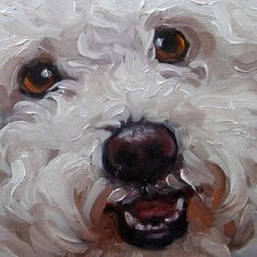 """""""You can absolutely see this little dog's spirit."""" Love the 'painterly' style."""