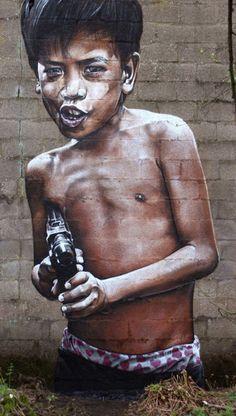 Amazing graffiti street art by SmugOne. Amazing graffiti street art by SmugOne. - Art - Check out: Street Art by SmugOne on Barnorama 3d Street Art, Street Art Utopia, Amazing Street Art, Street Art Graffiti, Street Artists, Amazing Art, Graffiti Kunst, Graffiti Artwork, Graffiti Wall