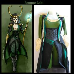 A female Loki cosplay I was commissioned to make for a girl, from Avengers !