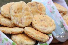 Scons Salados de Jamón - Queso - Panceta y Cebolla