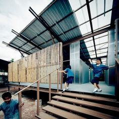 Stilted classrooms in Thailand by Jun Sekino  (replaced previous school destroyed in earthquake)