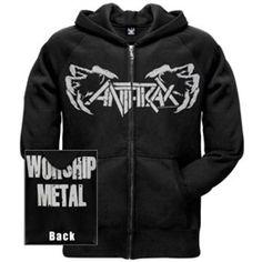 Anthrax Claws Zip Hoodie Sweatshirt