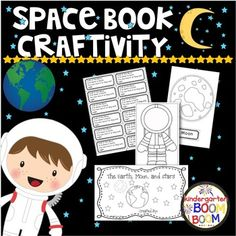 Sun, Moon, Stars, Space Book is a craftivity that focuses on nonfiction facts about the earth, moon, stars, sun, and astronauts. I complete this activity every year with my kiddos during my space unit. It is about a week and a half worth of lessons focused on the above topics.This packet includes: 2 pages of instructions 2 pages for