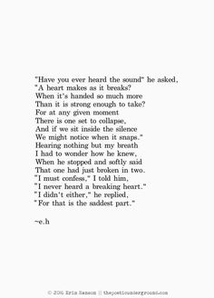 They say the things that finally break you are the words caught in your throat Eh Poems, Poem Quotes, Words Quotes, Qoutes, Poems Of Love, Poems About Love, Life Poems, The Words, Life Quotes Love