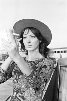 The muse of French Nouvelle Vague, Danish born actress ANNA KARINA, 1968