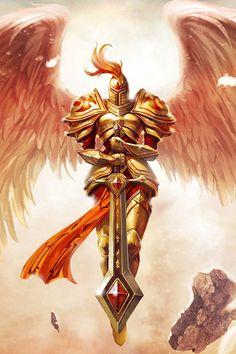 Christian Warrior Angels Bing Images The Curve of the World Angel Warrior, Fantasy Warrior, Fantasy Art, Angels Among Us, Angels And Demons, Christian Warrior, Ange Demon, Armor Of God, Lol League Of Legends
