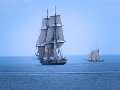 Tall Ships heading home from Duluth, MN.