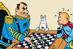 The Broken Ear. Besides the game of revolution, Alcazar plays chess and smokes cigars Haddock Tintin, Tin Tin Cartoon, Captain Haddock, Herge Tintin, Thompson Twins, Comic Art, Comic Books, Lucky Luke, Ligne Claire