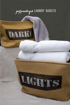 Simple and quick project to add a little personalization to your laundry baskets, or customize your labels however you want! | Planq Studio