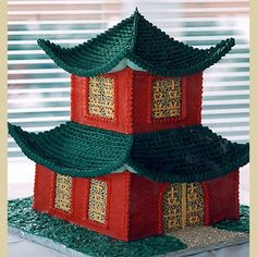 Custom Theme Cakes & Wedding Cakes - Let Them Eat Cake Japanese Pagoda, Chinese Pagoda, Architecture Cake, Building Cake, Anti Gravity Cake, Chinese Cake, Asian Cake, Bolo Cake, Sculpted Cakes
