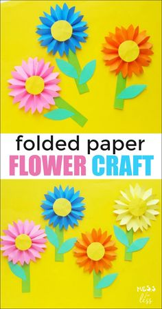 20 best DIY paper flowers craft – Kids Diys DIY paper flowers are the perfect inexpensive and easy way to have the happiness of flowers indoors all year-long. Get crafty with these 20 best DIY paper flowers craft. Flower Crafts Kids, Paper Flowers For Kids, Paper Flower Wreaths, Tissue Paper Flowers, Paper Crafts For Kids, Craft Kids, Flower Paper, Children Crafts, Construction Paper Flowers