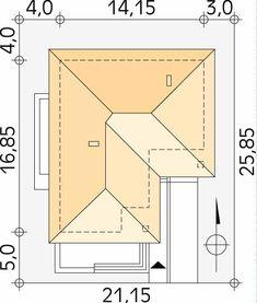 Neptun 5 projekt domu - Jesteśmy AUTOREM - DOMY w Stylu Tuscan House Plans, Bedroom House Plans, Dream House Plans, Modern House Plans, Villa Design, Roof Design, Plan Design, House Design, Rustic Italian
