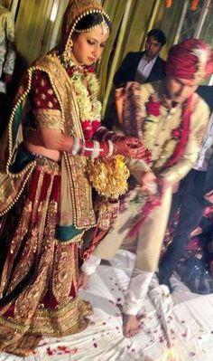 Sargun mehta wedding lehanga