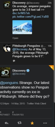 Penguins getting rekt from unexpected places