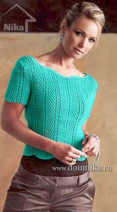 Womens knitted sweater with short sleeves Annie Blatt 196