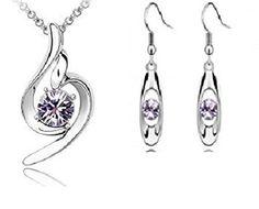 White Gold Plated Angel Necklace Purple Austrian Crystal Bridal Jewellery Necklace+Earring Set Crystal Jewellery Set ..., http://www.amazon.co.uk/dp/B00XNK5BDA/ref=cm_sw_r_pi_awdl_8AmXvb1H4JN15