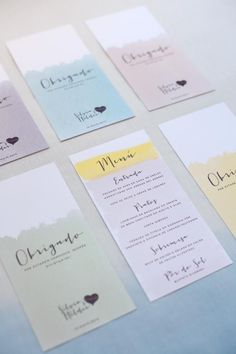 ADORO: Menu Casamento // Wedding Menu