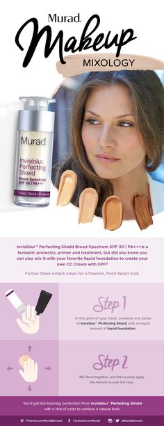 Murad Mixology: Make your own CC Cream featuring Murad's Invisiblur Perfecting Shield