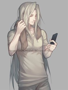 """risingoflights: """" onewinged-cerberus: """" Sephiroth after training. *Private Commission Artist/Saru """" casual sephiroth is my favourite i want to brush. Final Fantasy Cloud, Final Fantasy Artwork, Final Fantasy Characters, Fantasy Love, Fantasy Series, Seshomaru Y Rin, Manhwa, Vincent Valentine, Boys Anime"""