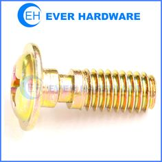Grooved pan washer screw