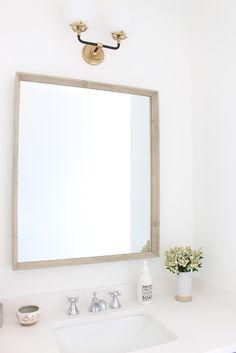 Warm tones in a clean, modern bathroom