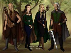Aedion, Lysandra, Aelin, and Rowan