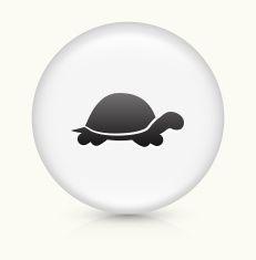 Turtle icon on white round vector button vector art illustration