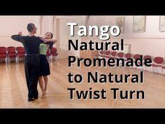 Natural Promenade Turn to Natural Twist in Tango | Dance Routine - YouTube