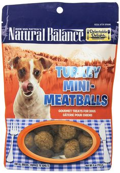 Dick Van Patten's Natural Balance Delectable Delights Mini-Meatballs Turkey Formula Dog Treats ** For more information, visit now (This is an amazon affiliate link. I may earn commission from it)