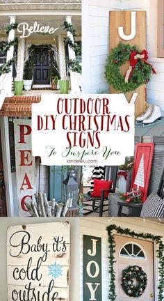 Outdoor Christmas Sign Ideas   landeelu.com