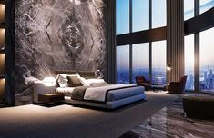 37 Wonderful Luxury Bedroom Design Ideas You Will Love - If you've ever watched Lifestyles of the Rich and Famous, you are familiar with what luxury bedroom decor is. It is defined by it's beauty, material, . Luxury Bedroom Design, Luxury Interior Design, Luxury Home Decor, Luxury Homes, Interior Architecture, Modern Luxury Bedroom, Modern Hotel Room, Hotel Lobby Design, Hotel Decor