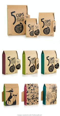 5 Cups and Some Sugar Customizable Tea Packaging
