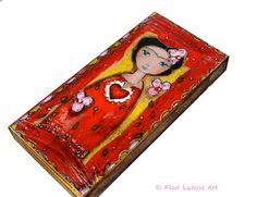 Frida and her Sacred Heart   Giclee print mounted on by FlorLarios, $18.00