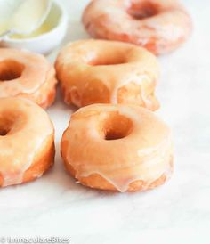 Krispy Kreme Doughnut Recipe(Copy Cat) -- Light and fluffy donuts topped with a rich glaze on top that will melt in your mouth. Tastes as good as the store-bought Krispy Kremes! Light And Fluffy Doughnut Recipe, Krispy Creme Donut Recipe, Easy Donut Recipe, Donut Recipes, Dessert Recipes, Cooking Recipes, Dessert Ideas, Desserts, Mini Donuts