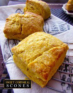 Sweet Cornmeal Scones | Cooking Is My Sport
