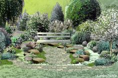 Garden design:Moon Garden in 4 seasons - Spring [THIS IS THE MOST INTERESTING SITE. CHECK IT OUT.]