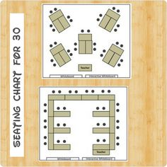 Seating Chart for 30 Students #ClassroomManagement