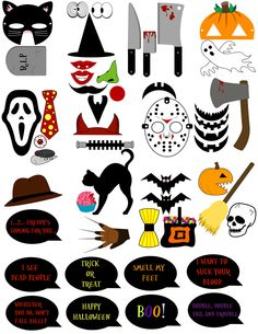 50 DIY HALLOWEEN Photo Booth Prop and Sign by DigitalConfectionery, $3.99