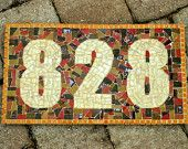 Outdoor Numbers, Mosaic Address Sign