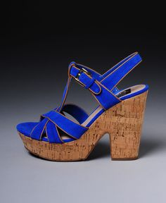 DV by Dolce Vita Ankle Strap Cork Wedge Heels