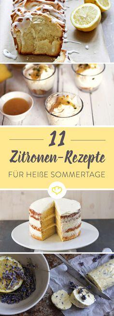 11 Foodblogger haben uns ihre liebsten Zitronen-Rezepte verraten. Von selbstgemachter Zitronen-Butter bis hin zu süßen Mini-Donuts ist alles dabei.