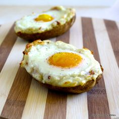 Breakfast Potato Skins, this would be almost a complete meal, especially if you use one of those large baking potatoes...YUM!
