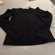Lululemon lab city pullover black size 4 Lululemon black lab city pullover size 4 lululemon athletica Tops Tees - Long Sleeve