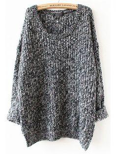 Grey Long Sleeve Loose Sweater                                                                                                                                                     More