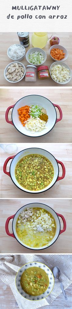 Mulligatawny con escarlatina - Hierbas y especias Mulligatawny, Curry, Blue Ombre Hair, Table Settings, Milk Cans, Spices And Herbs, Vegetables, Small Shops, Strawberry Fruit