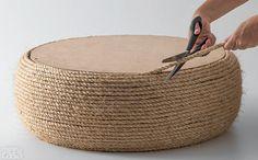 Aprenda a fazer um pufe ecológico de pneu descartado | IW Sua Casa - Decoração & MercadoIW Sua Casa – Decoração & Mercado