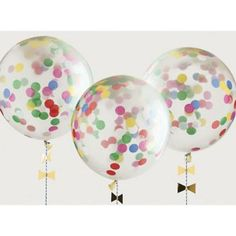 Make your baby shower POP with festive confetti balloons! Fill the clear balloons with bright colored confetti and watch the party come alive. These easy to assemble embellished balloons are suitable for use with or without helium. Clear Balloons, Photo Balloons, Confetti Balloons, Push Pop Confetti, Confetti Bags, Baby Shower Favors, Bridal Shower Invitations, Baby Shower Decorations, Balloon Decorations Without Helium
