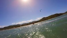 Kite Buen Hombre Miky strapless surfboard. Buen Hombre kiting, flt Bungalow On The Beach, Kite School, Surfboard, Paradise, In This Moment, Mountains, Amazing, Water, Travel