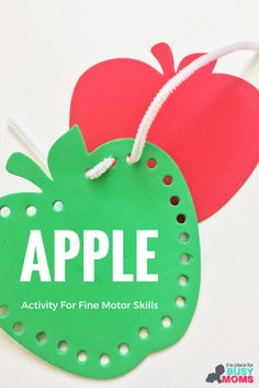 Apple Activity For Fine Motor Skills Using Pipe Cleaners