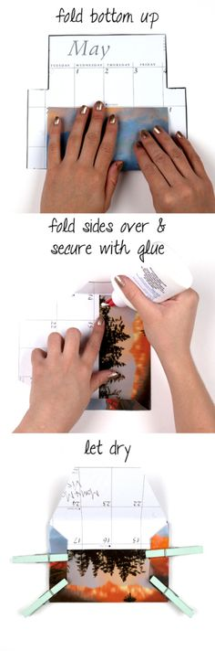 DIYEnvelope Tutorial.  Make an envelope from your old calendar pages.